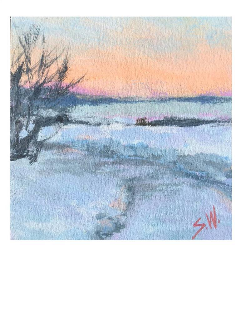 """""""Frozen"""" original fine art by Suzanne Woodward"""