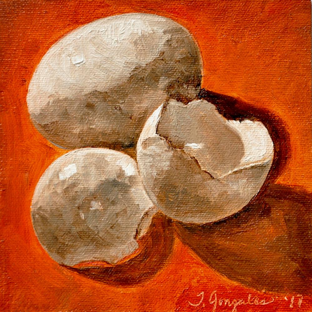 """Brown Eggs"" original fine art by Theresa Gonzales"