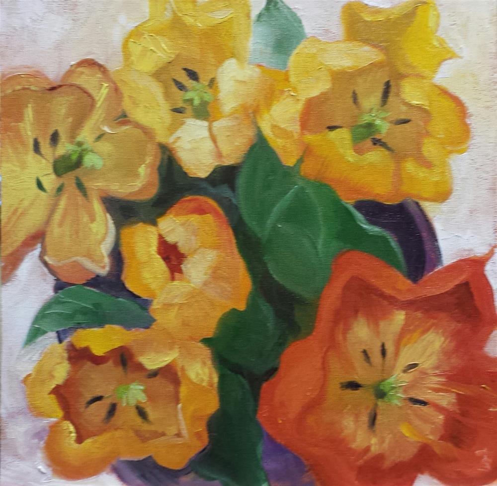 """Top Down"" original fine art by Judith Fletcher"