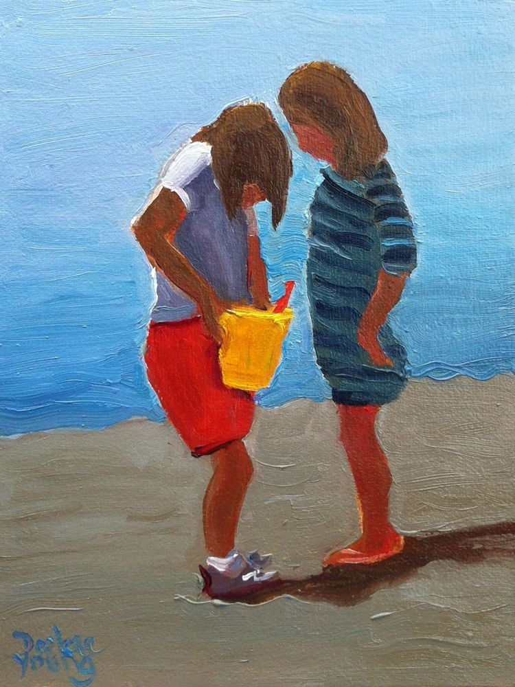 """The Find"" original fine art by Darlene Young"