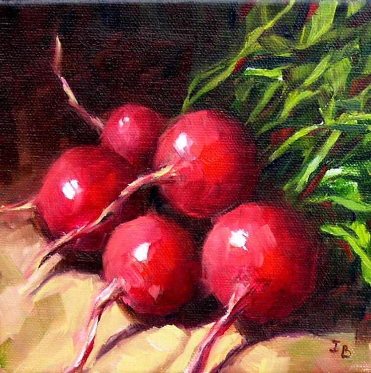 """Radishes"" original fine art by Irina Beskina"