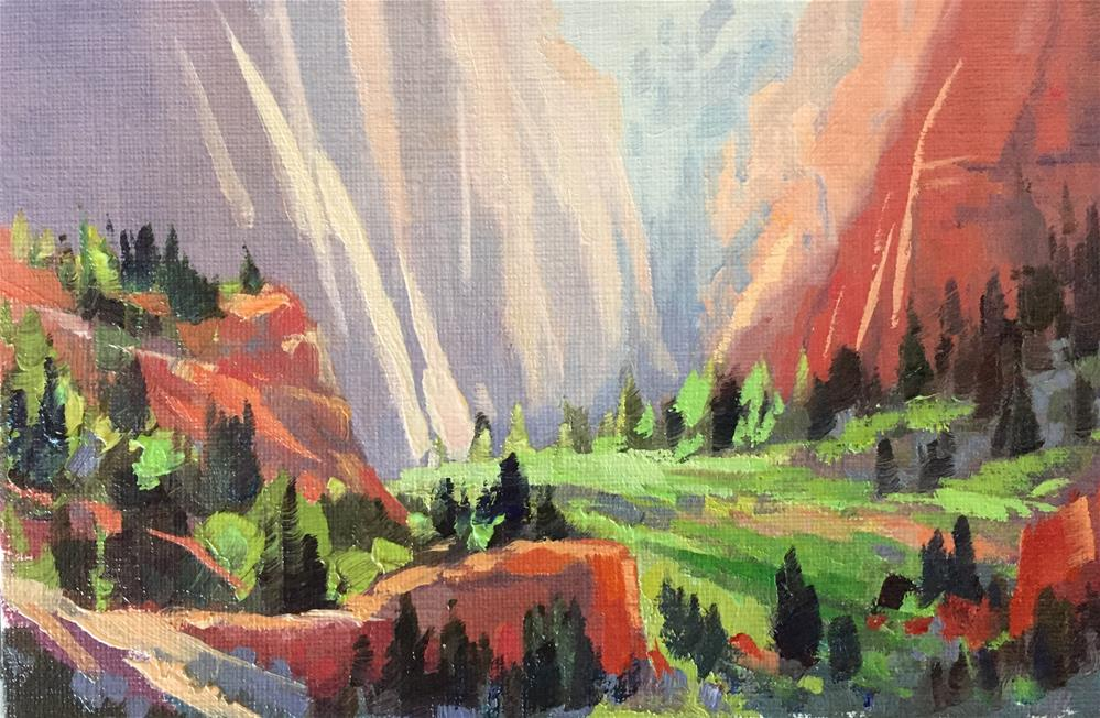 """""""Sunlight in the Canyon"""" original fine art by Mary Jabens"""
