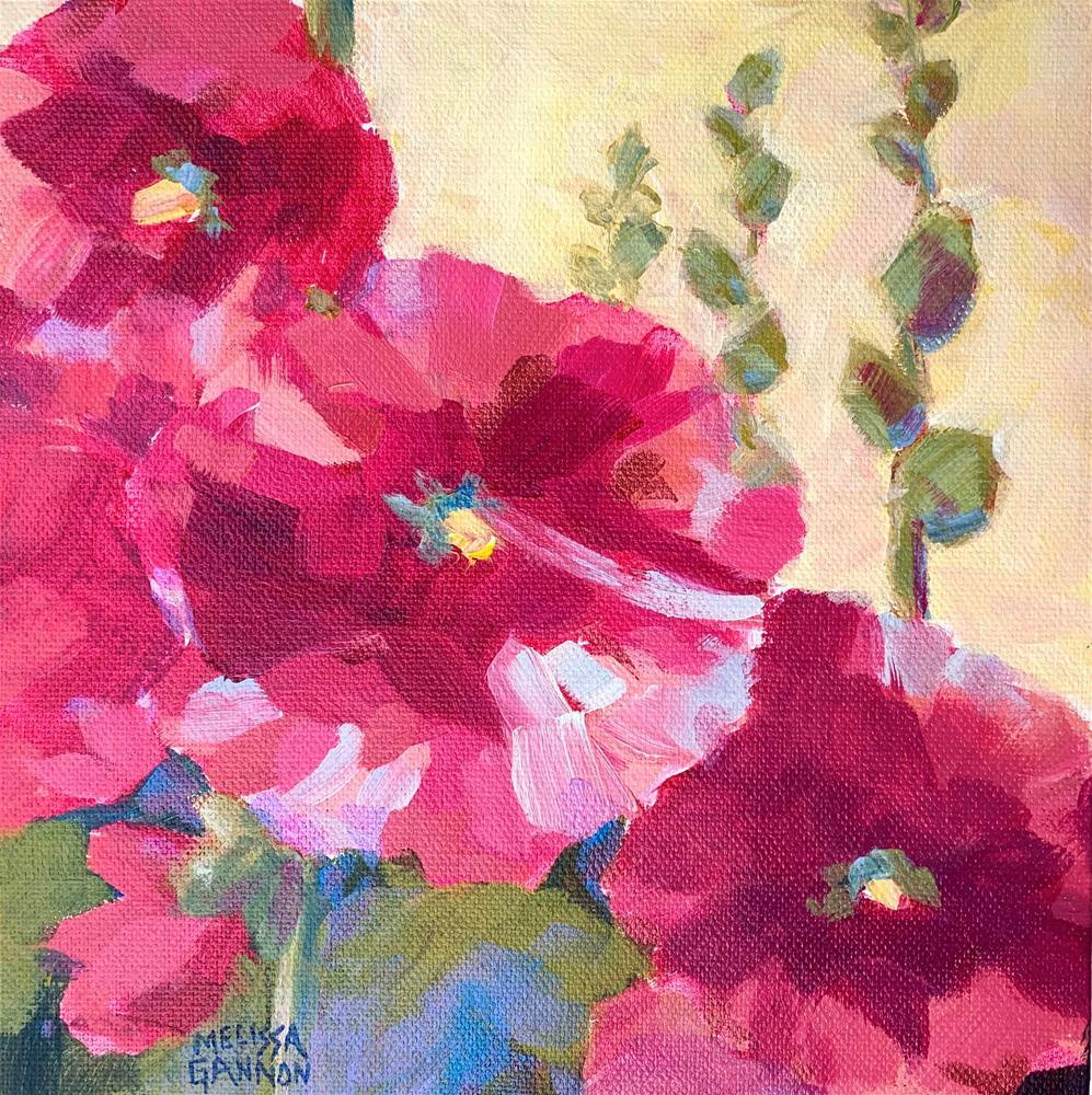 """Smiling Flowers"" original fine art by Melissa Gannon"