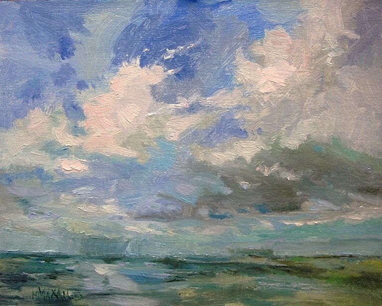 """Unknown Horizon"" original fine art by Mary Maxam"