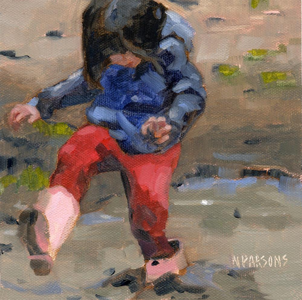 """Rainy-Day Sunshine"" original fine art by Nancy Parsons"