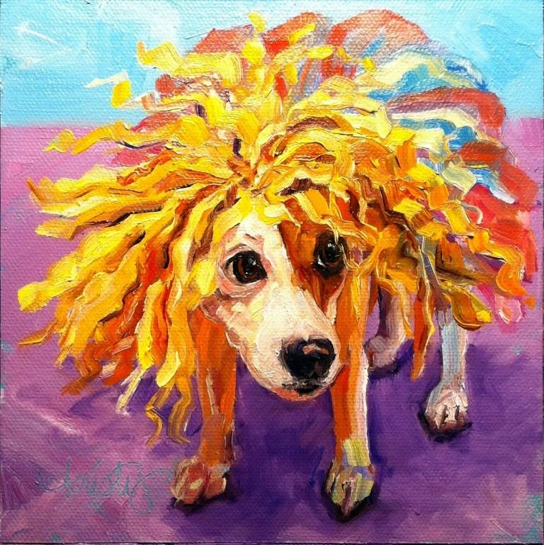 """""""DOGZILLA"""" original fine art by Kristy Tracy"""
