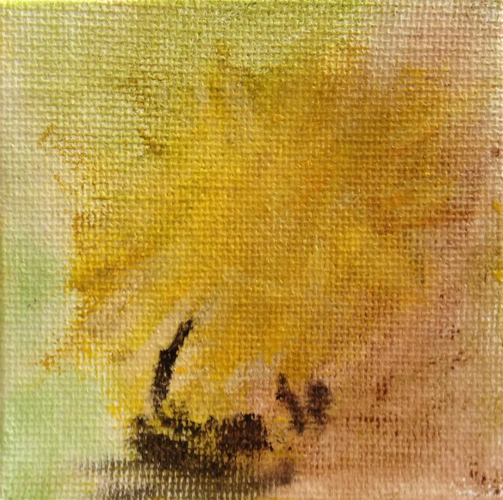 """Beezzz: Hidden Pollen Underneath"" original fine art by Joy McMicken"