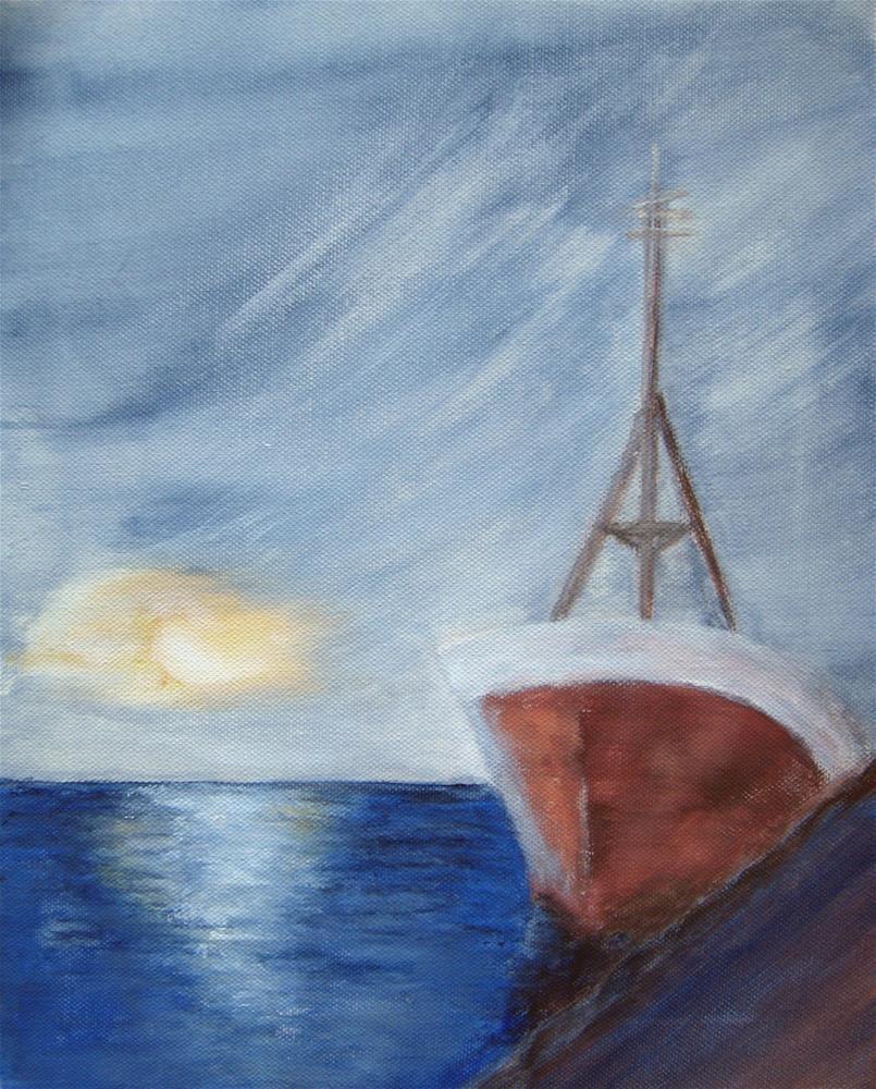 """Rusty Ship"" original fine art by Alina Frent"