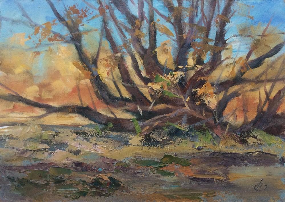 """SERENE LANDSCAPE"" original fine art by Tom Brown"