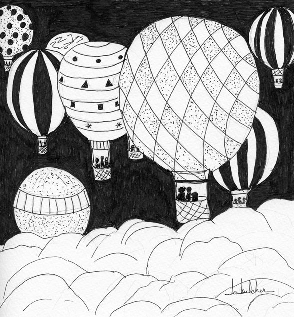 """Up and Away"" original fine art by Lou Belcher"