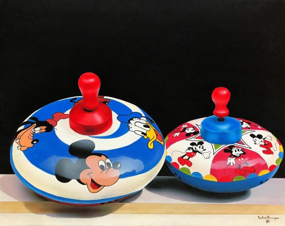 """Double Disney"" original fine art by Fred Schollmeyer"