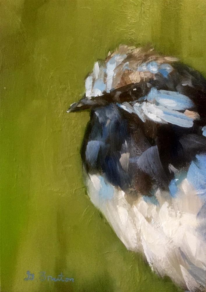 """""""Fairy Wren Portrait"""" original fine art by Gary Bruton"""