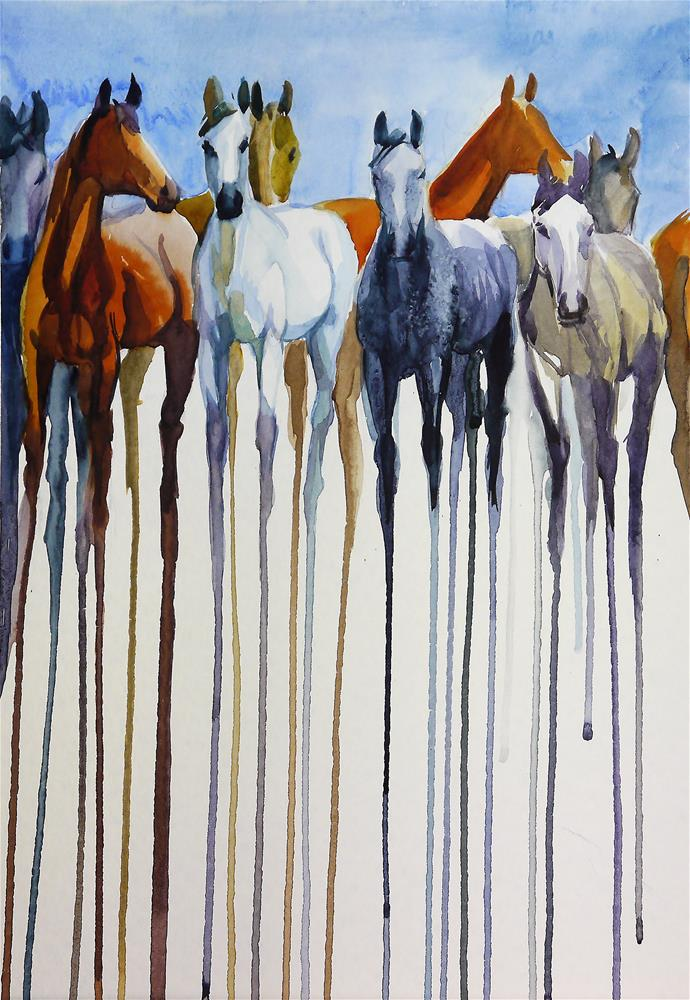 """herd_2"" original fine art by Beata Musial-Tomaszewska"