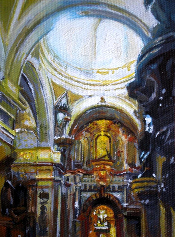 """Church light"" original fine art by Víctor Tristante"