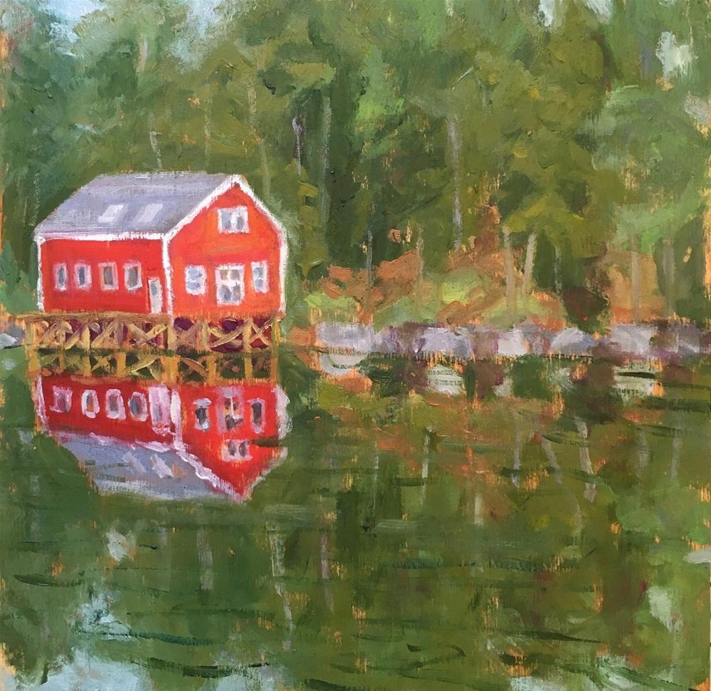"""Peaceful Cove"" original fine art by Shari Goddard Shambaugh"
