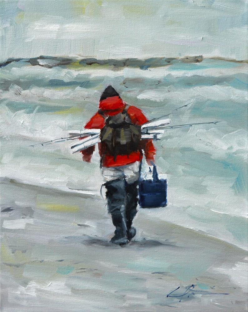 """Gone Fishin'"" original fine art by Clair Hartmann"