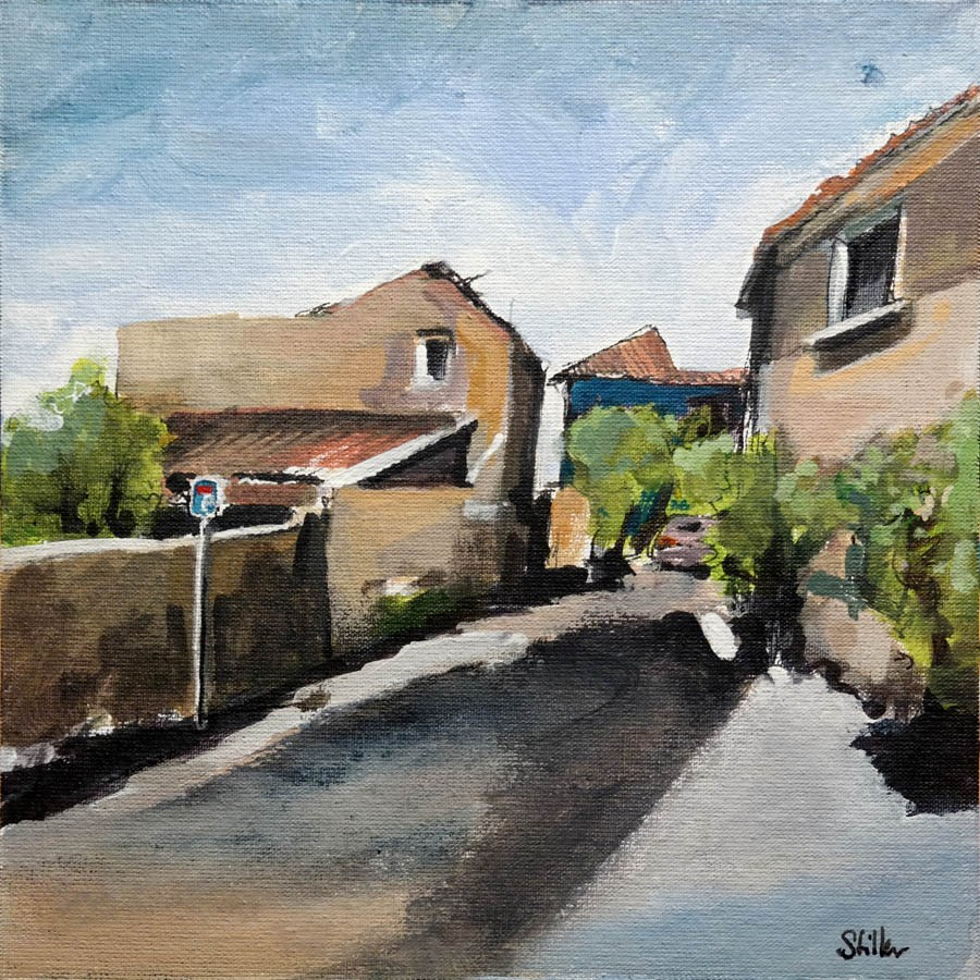 """2475 Second View of Southern France"" original fine art by Dietmar Stiller"