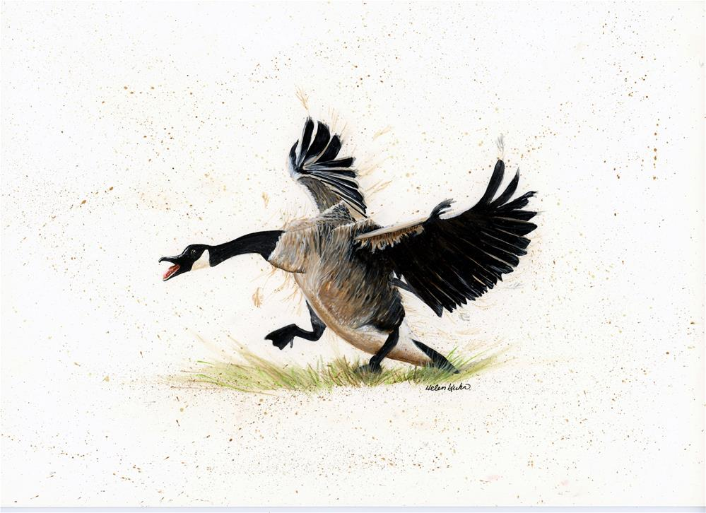"""Goose"" original fine art by Helen Kuhn"