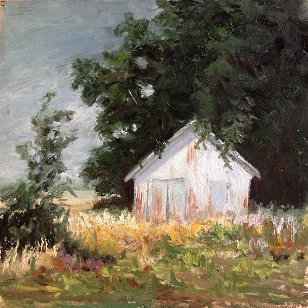 """""""Cologne Shed"""" original fine art by Judith Anderson"""