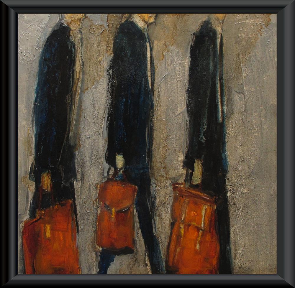 """""""SUITS - CASES Original ABSTRACT FIGURE Art Painting OIL"""" original fine art by Colette Davis"""