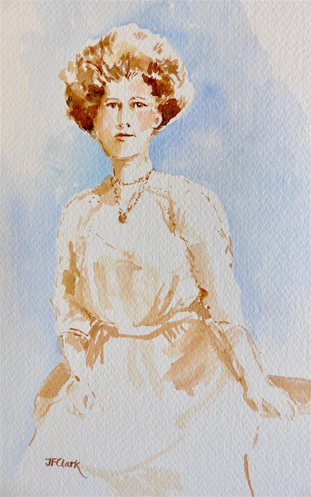 """Florence on her Wedding Day, 1911"" original fine art by Judith Freeman Clark"