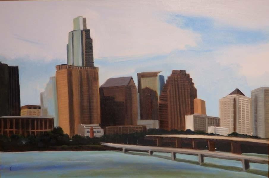 """Skyline View"" original fine art by Jane Frederick"