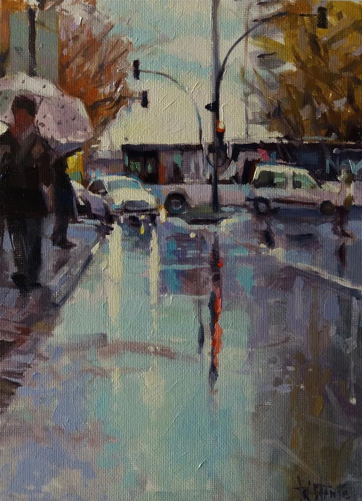 """""""Lighted morning"""" original fine art by Víctor Tristante"""