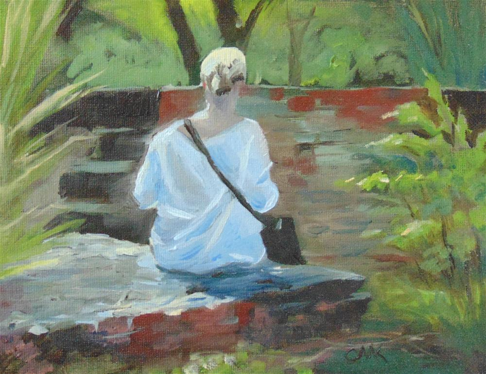 """""""Lady in the Park"""" original fine art by Catherine Kauffman"""