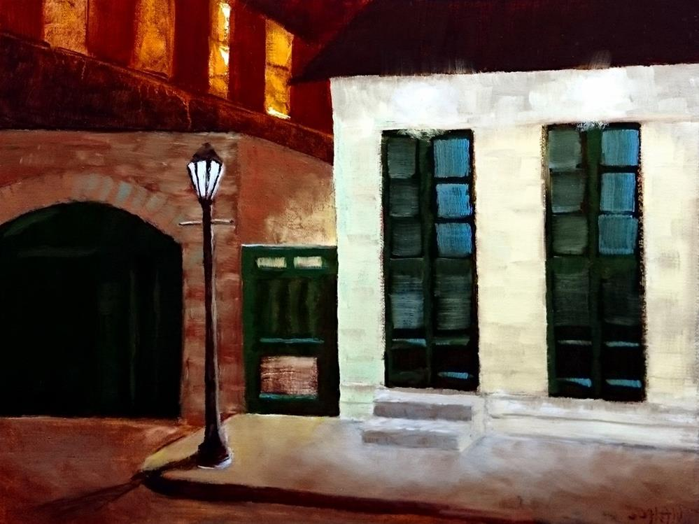 """A Quiet Fall Evening In The French Quarter"" original fine art by Dalan Wells"