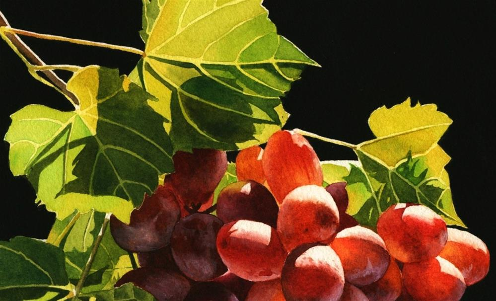 """Red Grapes"" original fine art by Jacqueline Gnott, TWSA, WHS"