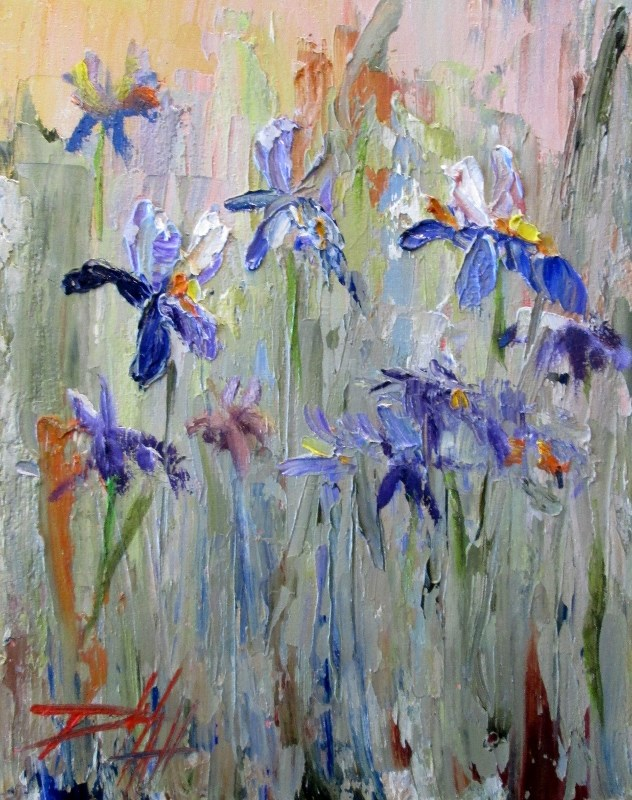 """Wild Iris No. 2"" original fine art by Delilah Smith"
