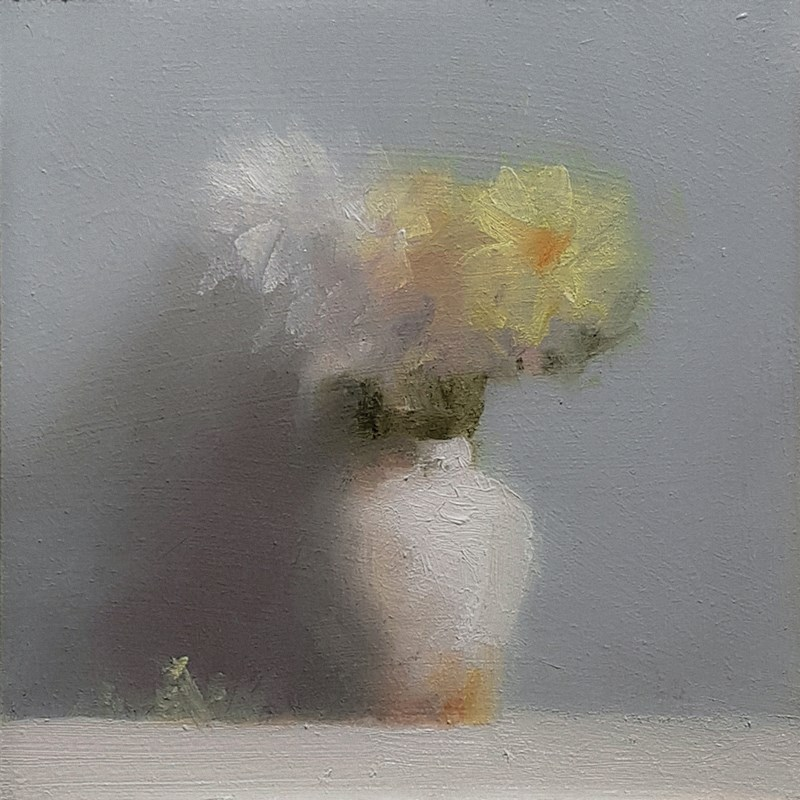"""Vase with Yellow Daisy"" original fine art by Neil Carroll"