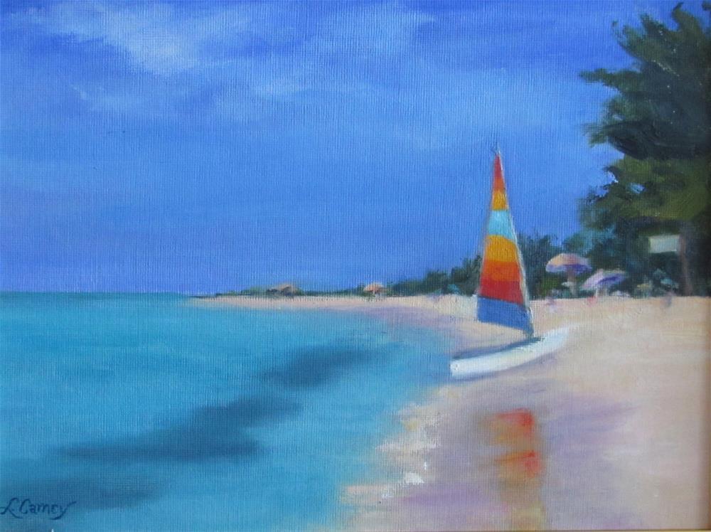 """Wasting away again in Margaritaville"" original fine art by Linda Carney"