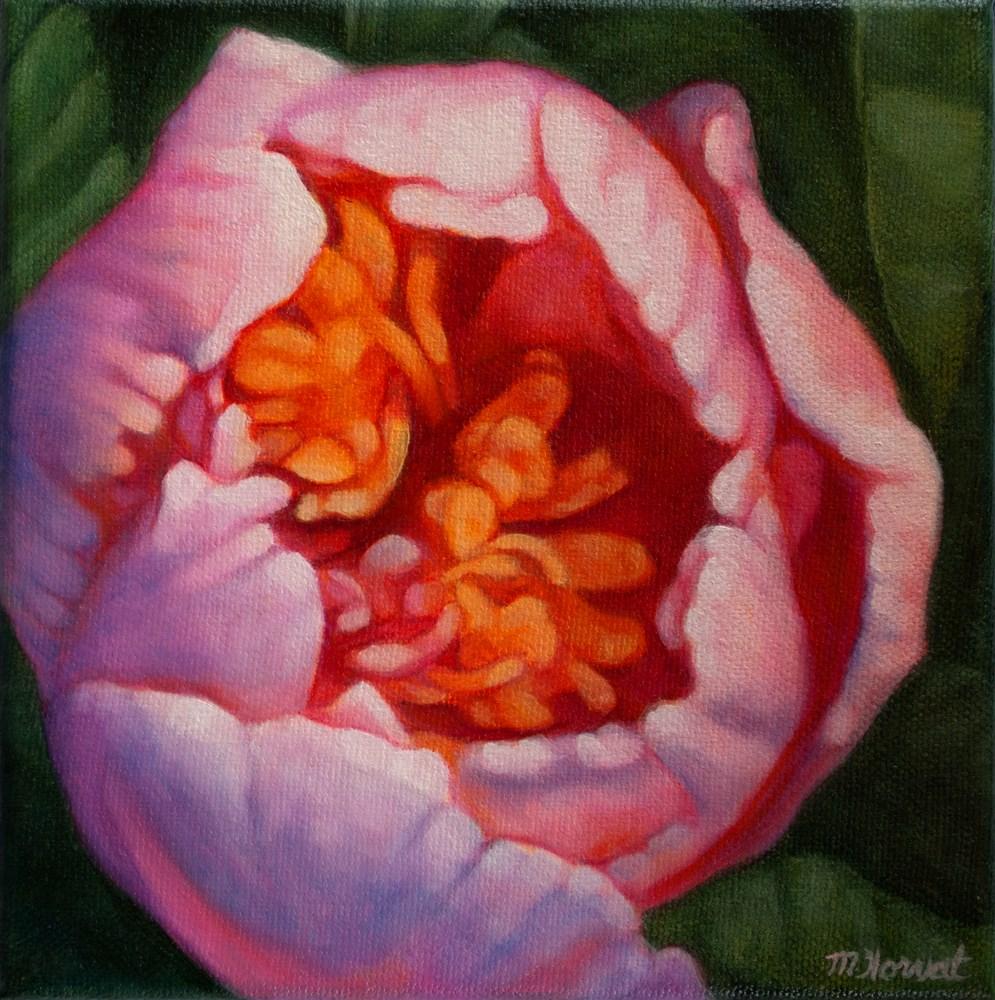 """""""Peony Bud"""" original fine art by Margaret Horvat"""