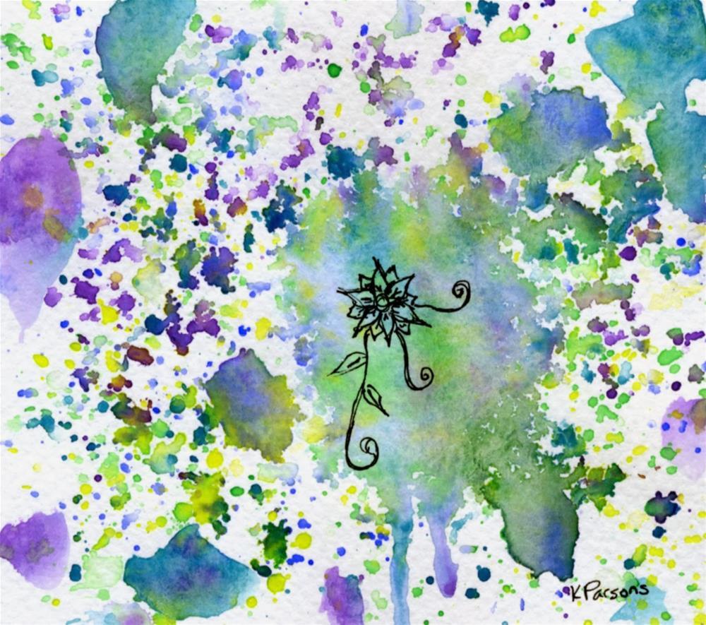 """Lonely Bloom"" original fine art by Kali Parsons"