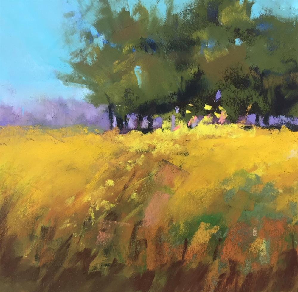 """Sparkling Meadow"" original fine art by Sherri Cassell"