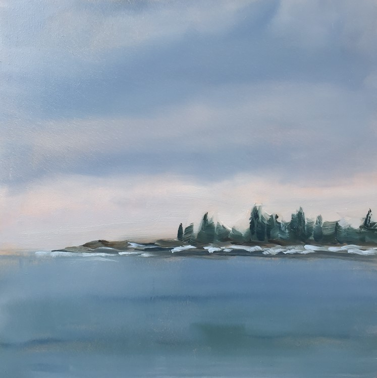"""#123 - Richmond Island"" original fine art by Sara Gray"