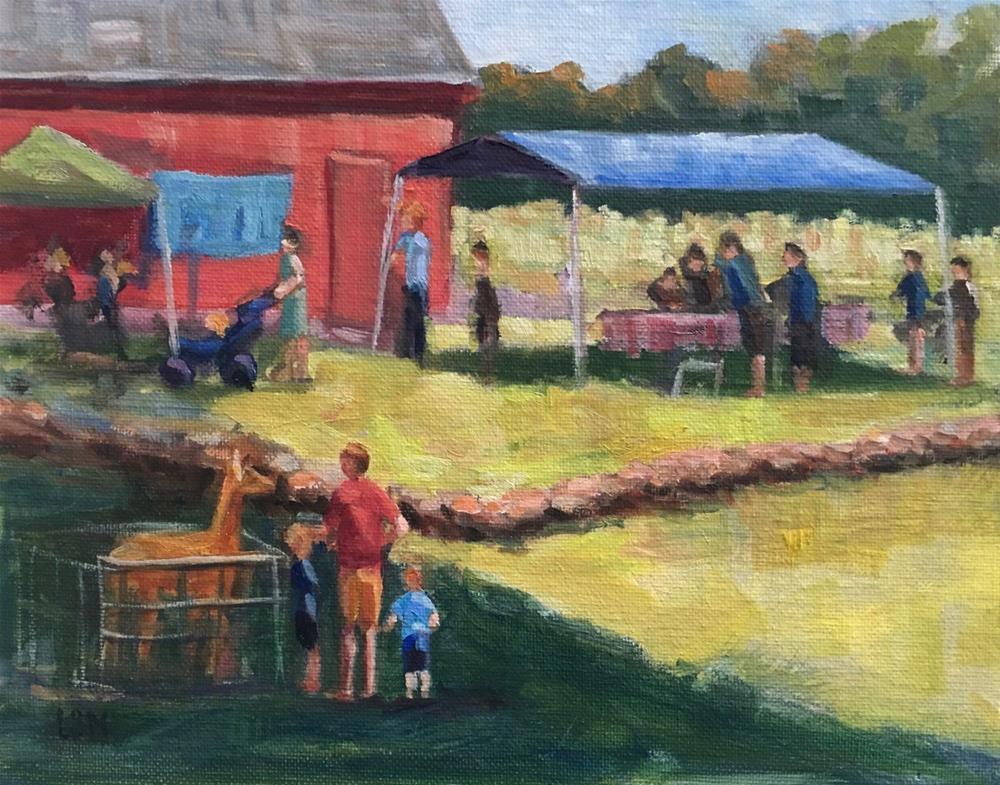 """A Day at Ive's Farm"" original fine art by Linda Marino"