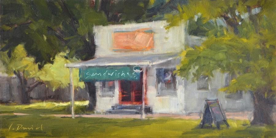 """Avenue B Grocery"" original fine art by Laurel Daniel"