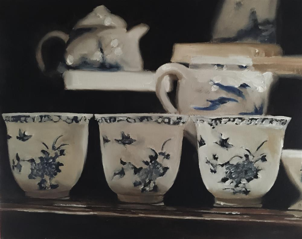 """Chinese Porcelain"" original fine art by James Coates"