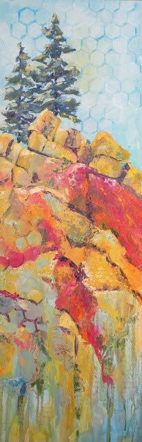 """""""PINE CANYON UPDATE © SAUNDRA LANE GALLOWAY"""" original fine art by Saundra Lane Galloway"""