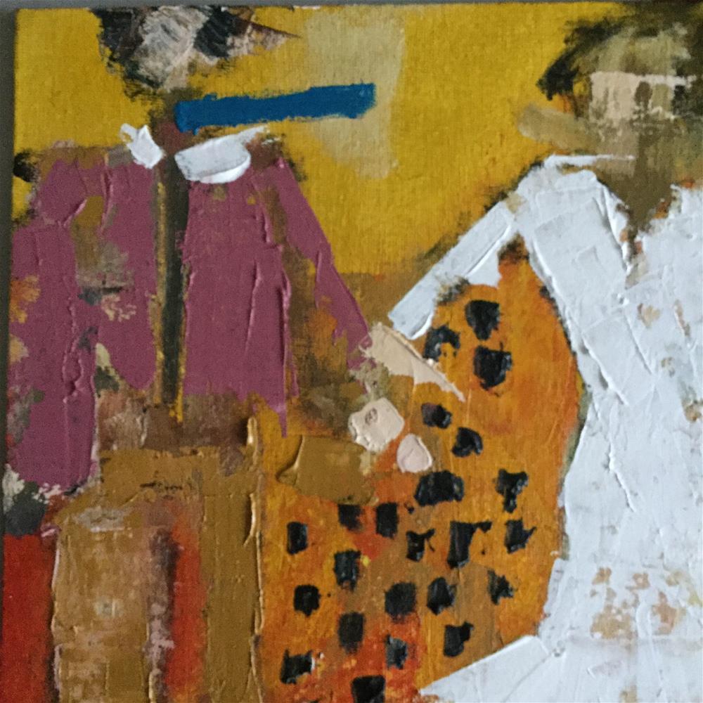 """On the town"" original fine art by pamela kish"