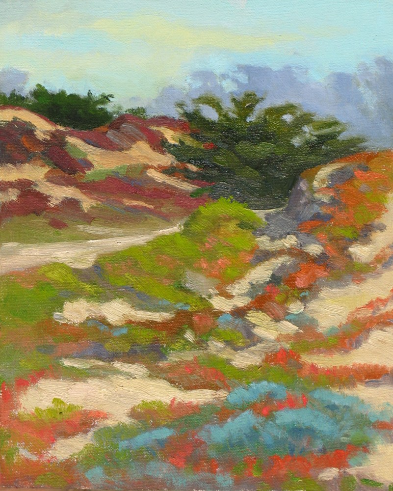 """Ice Plant Colors"" original fine art by Rhett Regina Owings"