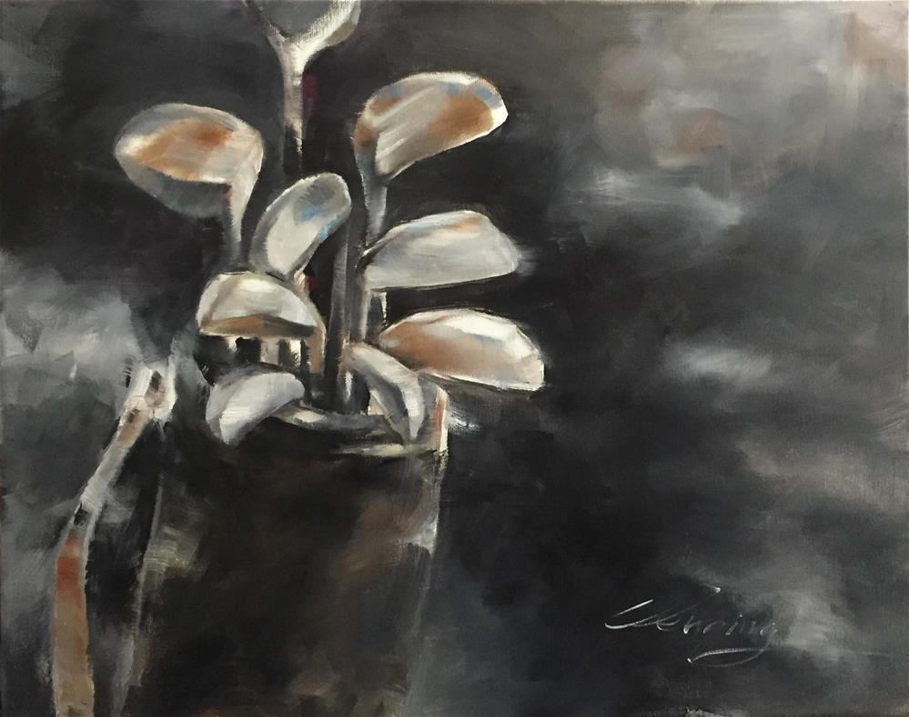 """for golf race"" original fine art by Wenqing Xu"