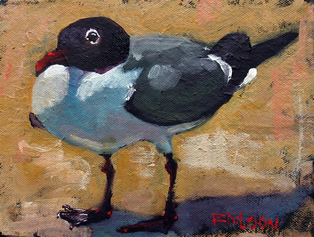 """My Gull Friday"" original fine art by Rick Nilson"