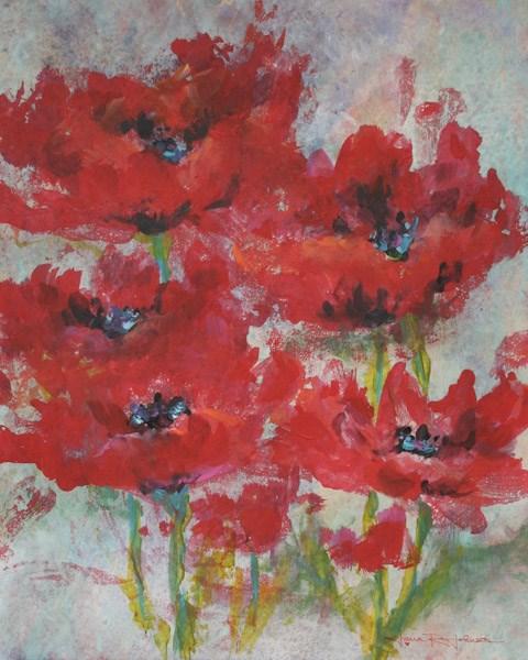 """Poppy Frolic"" original fine art by Jana Johnson"