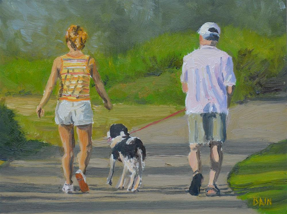 """A Walk in the Park"" original fine art by Peter Bain"