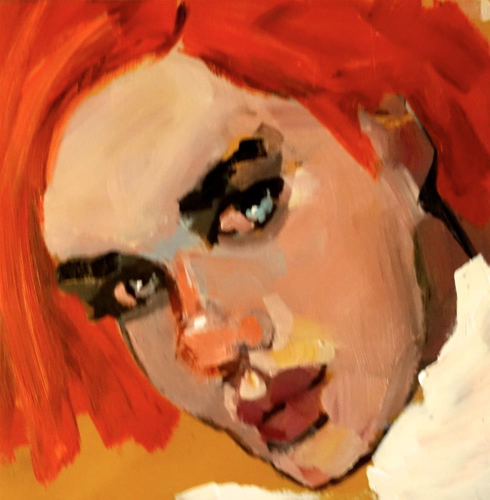 """I Want To Be Queen"" original fine art by Nancy  Rhodes Harper"