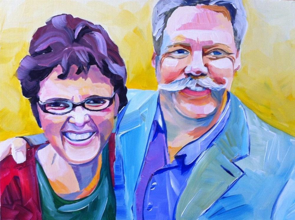 """Happy Anniversary"" original fine art by Teddi Parker"