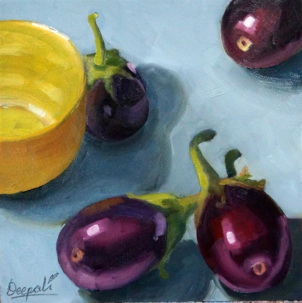 """Eggplants"" original fine art by Dipali Rabadiya"
